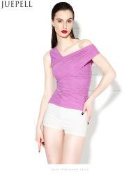 New European Oblique Sexy gauze Ruffle Blouse was Thin Tight Shoulder Vest Women Strapless Summer Silk Blouse Top