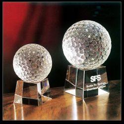 Home Decoration (KS201407)のための80mm Crystal Glass Golf Ball