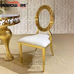 Moderno caliente hueco de acero inoxidable oro nuevamente Presidente de la boda