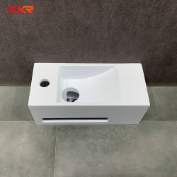 RV 욕실을 위한 OEM/ODM 소형 벽 장착형 세척액 베이슨 솔리드 곡면 세면대