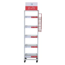 Quatro/ cinco níveis Supermercado Estantes de armazenamento de Metal