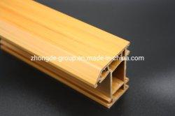 Corps plein de couleur marron UPVC/PVC de profils pour les portes et fenêtres