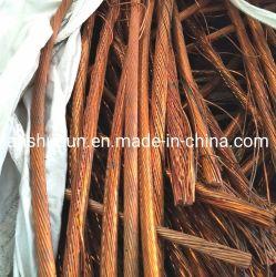 La chatarra de cable de cobre de alta pureza del 99,99%, la chatarra de cobre desnudo/cobre brillante