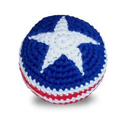 Assortiment de couleurs personnalisées Logo tissé Toy Ball Footbag Hacky Sack tricoté rayures Kick des balles pour les enfants jouaient