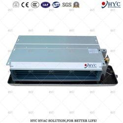 Certificado CE de agua refrigerada Horizontal de aire acondicionado ductos ocultos en el techo de la bobina del ventilador