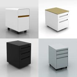 가정 Furniturelockable 단순한 설계 고품질 강철 사무실은 3개의 서랍 옆 파일 캐비넷을 신청한다