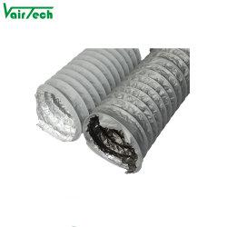Sistema de HVAC da Colheitadeira de PVC tubo flexível de resistência ao fogo do Duto de Ar de alumínio Tubo Flexível