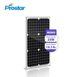 25W integrierte Monobaugruppen-Sonnenkollektor Sonnenkollektor25 Wp-LED für alle in einem Solarstraßenlaterne