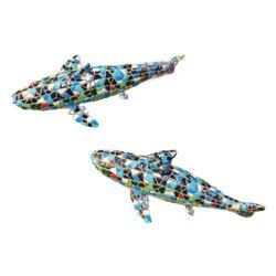Vari colori dei mestieri pieghi dei pesci della resina del mosaico della fabbrica cinese