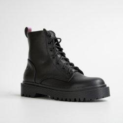 سيدة الشتاء الجديدة النسائية تعزز أحذية السيدات العادية مع Lace-up أحذية السيدات أحذية الكاحل