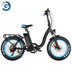 """Venta caliente Miss Moka E-Bike 20"""" del motor de tracción trasera plegable bicicleta eléctrica neumáticos Fat"""