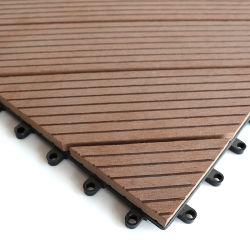 Amostra grátis Factory Novo Projeto Madeira Intertravamento composto WPC DIY Mosaico pavimentos