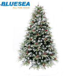 Estilo nórdico PVC/PE/Pino aguja caída nieve encerado árbol de Navidad