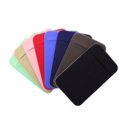 를 사용하는 휴대폰용 사용자 지정 Lycra 카드 홀더 스틱온 지갑 포켓