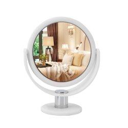 핫 제품 1X5X Magnifying Frame Girls Soft Rubber 터치 라운드 모양 화장용 데스크탑 테이블 거울