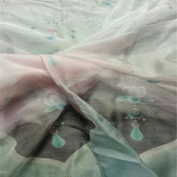 마이크로 폴리에스테 그늘 색깔 및 복장을%s 시퐁 직물 인쇄하기