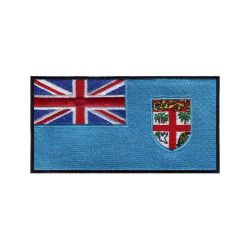 El bordado personalizado de alta calidad táctica Fiji Bandera Nacional plancha sobre parche