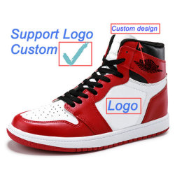 Calçados da marca de moda personalizada da marca da aviação de couro Calçado Desportivo Retro Og Chicago tênis de basquete masculino