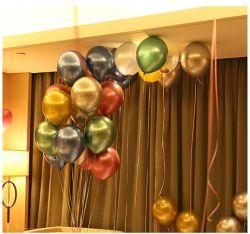 البالون المعدني الكرة بالون المعدن الطرف الديكور الكروم بالون