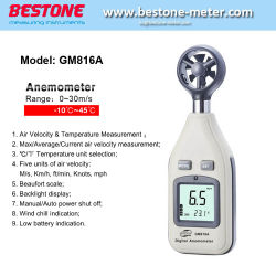 Commerce de gros Girouette anémomètre de haute qualité Ordinateur de poche816GM un anémomètre numérique