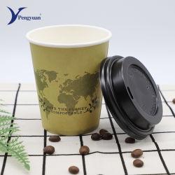 Tazze Monouso In Carta Da Parete Mini Coffee Con Stampa E Coperchio