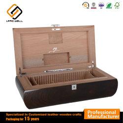 Cigar Humidor un emballage cadeau en bois Zone circulaire pour le stockage