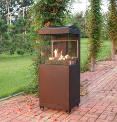 Riscaldatore esterno mobile del patio con la fiamma registrabile con la vista di vetro per uso del giardino