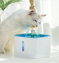 Fontana di acqua automatica del gatto dell'animale domestico del rifornimento di prodotti dell'animale domestico di Vcare 2.5L con l'alimentatore elettrico della fontana di acqua dell'animale domestico della ciotola dell'alimentatore del bevitore del muto dell'animale domestico del gatto del cane del LED