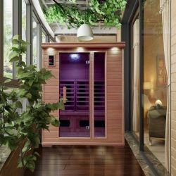 L'infrarouge lointain un Sauna sec Salle rendu de la Pruche Bois avec système de chauffage, salle de bain Sèche combiné de thérapie chaud Sauna Dome