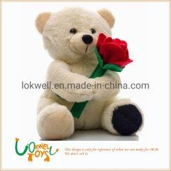 OEM Valentine fleur en peluche ours en peluche jouets en peluche enfants cadeau Jouet poupée doux amant
