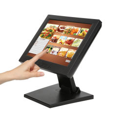 Montage panneau carré de 4 : 3 à 5 fils POS LCD écran tactile résistif