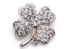Bufferfly の設計ローズの花ペンタゴンの方法は良質の工場を様式化する 価格の中国の供給者の宝石類の花はカスタマイズされた真珠とのブローチ LAD 用の石