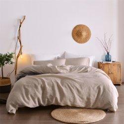 Super doux couleur naturelle à laver le linge de maison française définit de feuille