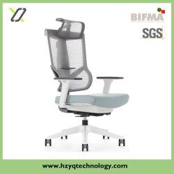 Base de Nylon ergonómico PU Castor estrutura plástica branca de mobiliário de escritório Giratória