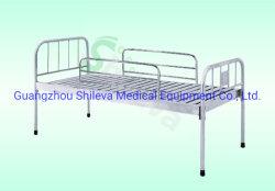 Em aço inoxidável de 1 mm de espessura Manual forte cama de hospital/Cama de Metal Plano