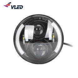 LED rondes 7'' des feux de croisement avec anneau de halo de lumière diurne et des clignotants pour 4X4 Offroad Jeep Defender