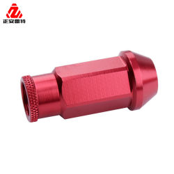 Aluminium/Titanium-Rad-Öse-Nuts rote Farben-Mutter