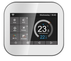 Wöchentlicher Programmable Electrical Touch Screen Raum WiFi Thermostats für Heat Pump