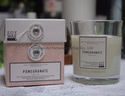 Venda por grosso de Cera de soja tipo Vela Perfumada personalizadas no copo misturador com Nice Caixa de oferta para a decoração da casa