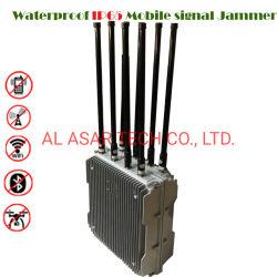 8 de banden maken IP65 Real time waterdicht Controlerend de Mobiele Stoorzender van het Signaal van de Gevangenis van de Stoorzender van het Signaal