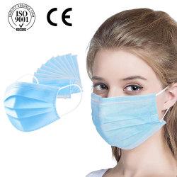 Китай поставщиком хирургическое медицинское маску для лица щиток одноразовые защитные Earloop 3ply постоянного лесного фонда 99% Ce EN14683 Тип II Iir Белый Listt подсети