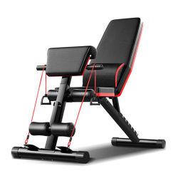 Home Gym Fitness ejercicio Multi pesa sentarse banqueta plegable plano ajustable de prensa Banco de peso