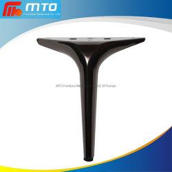 Venta caliente Cromado nuevo diseño de estilo europeo con muebles de metal de hierro de la luz de la pierna Balck Metal acabado sofá pierna
