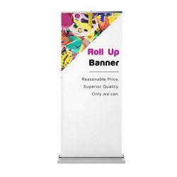 Im Freienbekanntmachenverschieben der bildschirmanzeige zieht Ausstellungsstand-breite Hochleistungsunterseite 2m Digital hoch, die einziehbare Aluminium oben Fahne rollen