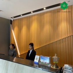 재활용 가능한 친환경 방수 합성 플라스틱 나무 라미네이트 벽 패널 WPC