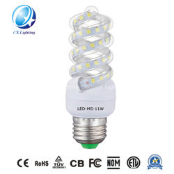 Caliente la venta de dos años de garantía de ahorro de energía CFL 220V 10W E27 18W de luz fluorescente LED
