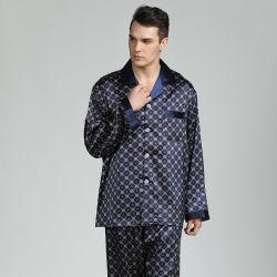 Homens impresso pijama de seda com qualidade superior de alimentação de fábrica OEM Service