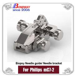 دليل إبرة الخزعة للاستخدام مع مسبار الموجات فوق الصوتية Micro-المحدب من Philips Mc7-2، كتيفة الإبر القابلة لإعادة الاستخدام