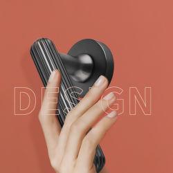Dingge 009 Quiet Copper Villa Camera da letto luce di lusso Oro Nero Semplice serratura a porte in legno per interni con chiusura a porte divise