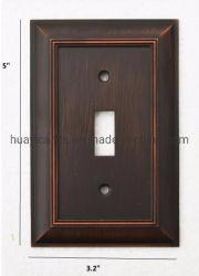 Eua UL Standard Single Alternar saída de bronze da placa na parede da tampa